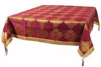 Пелена на престол/жертвенник из парчи ПГ5 (бордовый/золото)