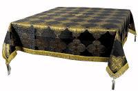 Пелена на престол/жертвенник из парчи ПГ5 (чёрный/золото)