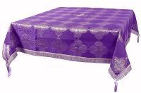 Пелена на престол/жертвенник из парчи ПГ5 (фиолетовый/серебро)