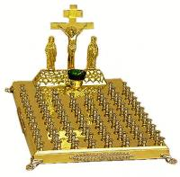 Крышка панихидного стола - 82 свечи