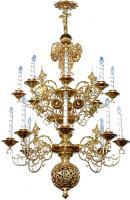 Двухъярусное церковное паникадило - 4 (16 свечей)