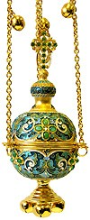 Кадило церковное - 27 (зелёная эмаль)