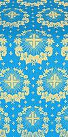 "Парча ""Рождественская звезда"" (синяя/золото)"