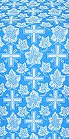 """Парча """"Ажурный крест"""" (синяя/серебро)"""