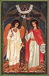Икона: Св. великомученица Марина и Ангел Хранитель