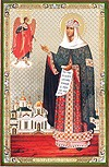 Икона: Явление св. Архангела Михаила св. преп. Ефросинии