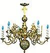 Одноярусное церковное паникадило - 3 (6 свечей)
