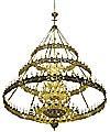 Трёхъярусное церковное паникадило (horos) -2 (228 свечей)