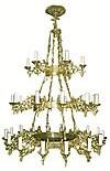 Трёхъярусное церковное паникадило (хорос) - 1 (34 свечей)