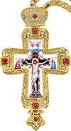 Крест наперсный с цепью и финифтью №0196