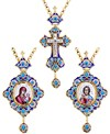 Набор для архиерея (крест и панагия) - 40a