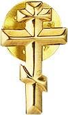 "Значок в позолоте ""Крест"" - 2"