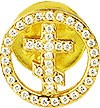"Значок в позолоте ""Крест"" - 4"