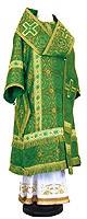 Архиерейское облачение из шёлка Ш2 (зелёный/золото)
