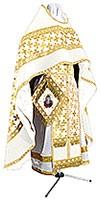 Иерейское русское облачение из парчи ПГ2 (белый/золото)