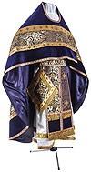 Иерейское русское облачение из парчи ПГ3 (фиолетовый/золото)