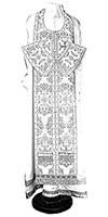 Требный комплект из парчи ПГ5 (белый/серебро)