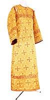 Стихарь алтарника из парчи ПГ2 (жёлтый-бордо/золото)