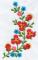 """Мастерская """"Православное узорье"""", вышивка: Зеркальное отображение цветочного узора, украшающего переднюю часть сорочки."""