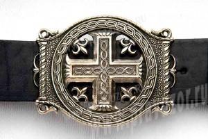 Пояс мужской - Крест с трёхлистником