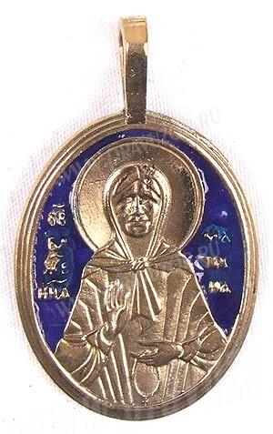 Православный нательный образок: Св. блаженная Матрона Московская