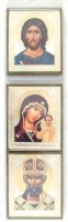 Икона: Домашний чин (Спас, Казанская икона Пресвятой Богородицы и Свт. Спиридон Тримифунтский)