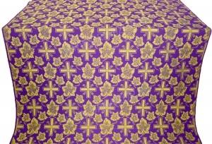 """Шелк """"Ажурный крест"""" (фиолетовый/золото)"""