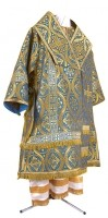 Архиерейское облачение из парчи ПГ3 (синий/золото)