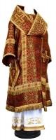 Архиерейское облачение из шёлка Ш3 (бордовый/золото)