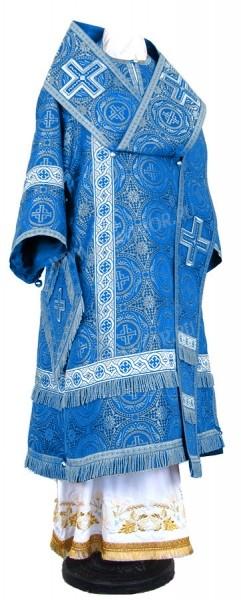 Архиерейское облачение из шёлка Ш4 (синий/серебро)