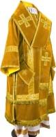 Архиерейское облачение из нем. бархата (жёлтый/золото)
