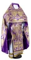 Иерейское русское облачение из парчи ПГ5 (фиолетовый/золото)