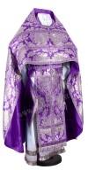 Иерейское русское облачение из парчи ПГ5 (фиолетовый/серебро)