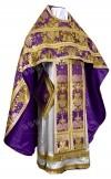 Иерейское русское облачение из парчи ПГ6 (фиолетовый/золото)