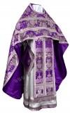 Иерейское русское облачение из парчи ПГ6 (фиолетовый/серебро)