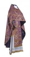 Иерейское русское облачение из шёлка Ш2 (фиолетовый/золото)