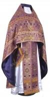 Иерейское русское облачение из шёлка Ш3 (фиолетовый/золото)
