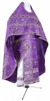 Иерейское русское облачение из шёлка Ш4 (фиолетовый/серебро)