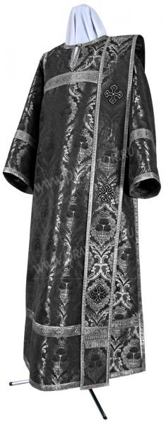 Дьяконское облачение из парчи ПГ4 (чёрный/серебро)
