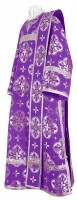 Дьяконское облачение из шёлка Ш3 (фиолетовый/серебро)