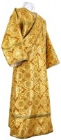 Дьяконское облачение из шёлка Ш4 (жёлтый-бордо/золото)