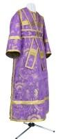 Иподьяконское облачение из парчи ПГ2 (фиолетовый/золото)