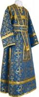 Иподьяконское облачение из шёлка Ш2 (синий/золото)