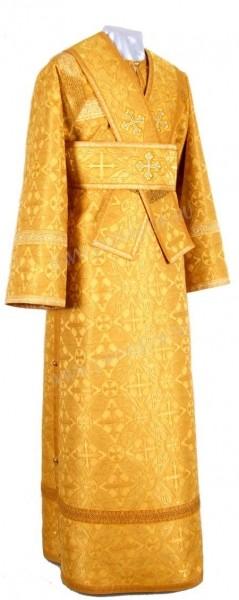 Иподьяконское облачение из шёлка Ш2 (жёлтый/золото)