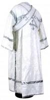 Иподьяконское облачение из шёлка Ш2 (белый/серебро)