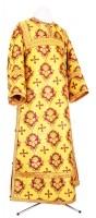 Стихарь клирика из парчи ПГ1 (жёлтый-бордо/золото)