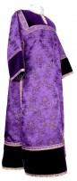 Стихарь клирика из парчи ПГ2 (фиолетовый/золото)