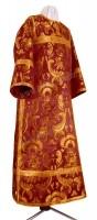 Стихарь клирика из парчи ПГ3 (бордовый/золото)