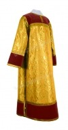 Стихарь клирика из парчи ПГ4 (жёлтый-бордо/золото)