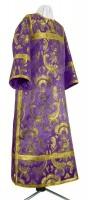 Стихарь клирика из парчи ПГ4 (фиолетовый/золото)
